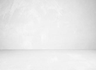 Fotobehang - Empty perspective grey cement room background, template, vintage interior design background