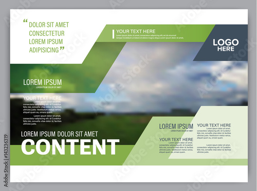 """Presentation layout design template. Annual report cover"