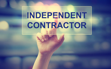 Independent Contractor concept with hand Fotoväggar