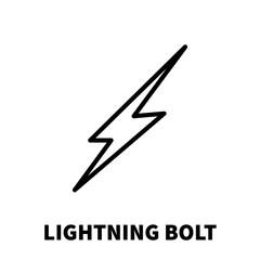 Lightning bolt icon or logo in modern line style