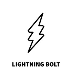 Lightning bolt icon or logo in modern line style