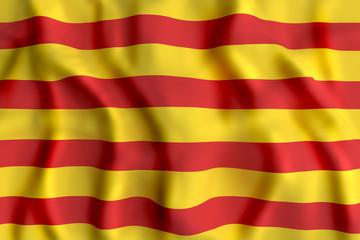 Catalonia flag waving