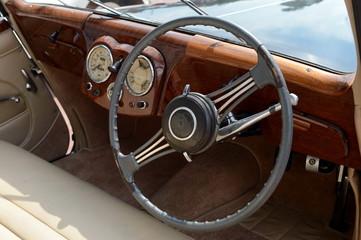 Old English car Triumph 1800 Roadster.