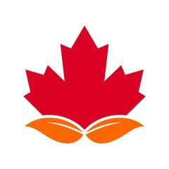 canada maple logo vector.