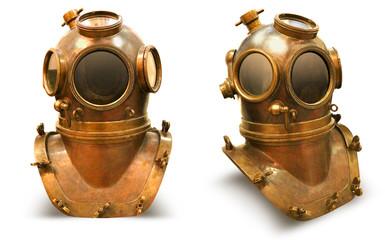 Copper old vintage deeps sea diving suit