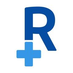 letter r logo vector. medical logo vector.