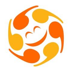 hexagon logo vector. quote or comma logo vector.