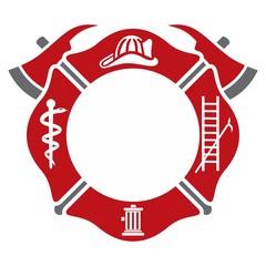 fireman emblem. fire department symbol. logo vector.