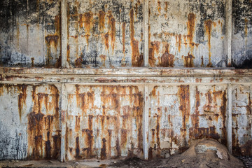 Old, rusty concrete wall background. Vintage style.
