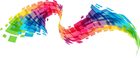 Abstract geometric colorful curve vector