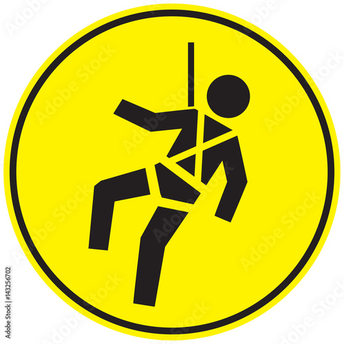 Safety Harness Sign Stock Image And Royalty Free Vector Files On