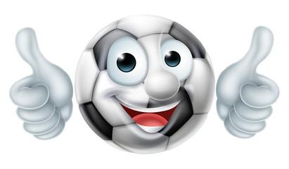 Soccer Football Ball Man Cartoon Character
