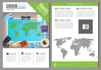 Travel brochure design. Template for Travel and Tourism concept. Vector