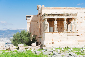 Wall Mural - Erechtheion temple in Acropolis of Athens, Greece