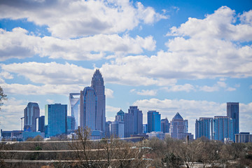 Wall Mural - Charlotte north carolina city skyline and downtown