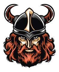 Viking warrior head
