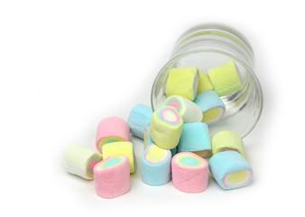 marshmallows in beautiful glass