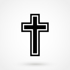 chriistian cross icon illustration vector, can be used for web and design