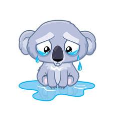 Koala cries
