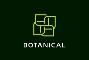 Monogram Leaf Logo Template Design Vector, Emblem, Design Concept, Creative Symbol, Icon
