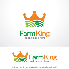 Farm King Logo Template Design Vector, Emblem, Design Concept, Creative Symbol, Icon