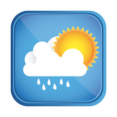 beautiful sunny day button icon, vector illustration