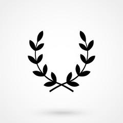 Victory wreath Icon Vector.