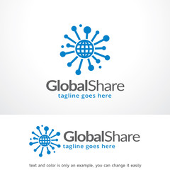 Global Share Logo Template Design Vector, Emblem, Design Concept, Creative Symbol, Icon