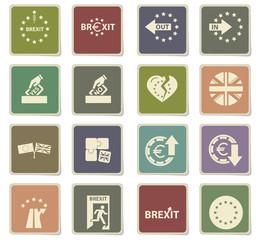 brexit icon set