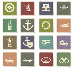 coast guard icon set