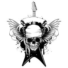wings guitar skull_var 3