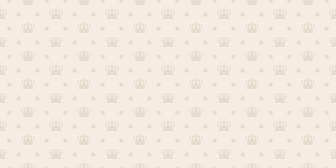 Vector pattern seamless texture, royal