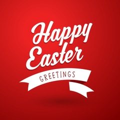 Happy Easter holiday greeting card template.