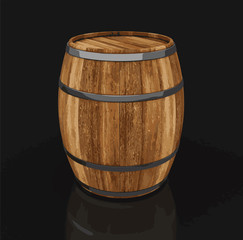 wine barrel. Image with clipping path