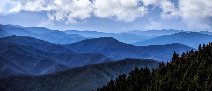 smokey mountains blue top
