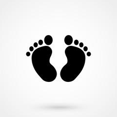 Baby foot Icon Vector