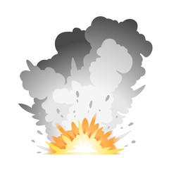 Ground Bomb Explosion