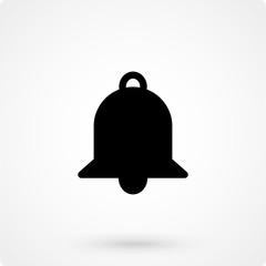 Bell icon, vector illustration. Flat design style