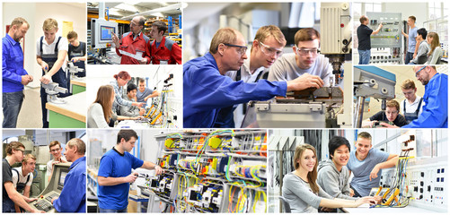 Berufsausbildung in der Industrie und im Handwerk // Engineering education - trainers, students and trainees