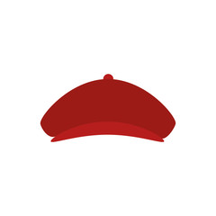 golfer hat isolated icon vector illustration design