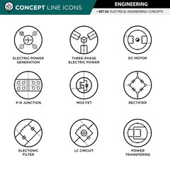 Concept Line Icons Set 02 Engineering