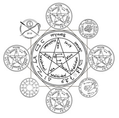 Occult ancient magic symbol. A vector element.