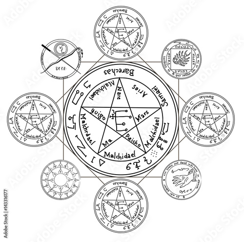 occult ancient magic symbol a vector element stock image and Cerium Oxide Paste occult ancient magic symbol a vector element