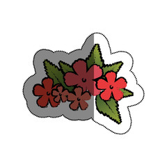 cute flower decorative icon vector illustration design