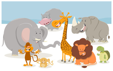 safari cartoon animal characters