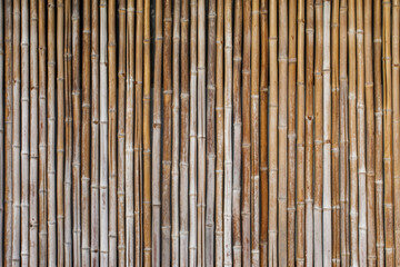 Old bamboo wood wall texture for background and wallpaper