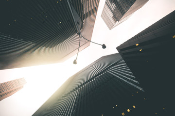 Looking up in Manhattan - New York