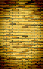 brick wall background with vignette corners
