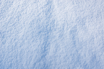Snowdrift surface in the morning.