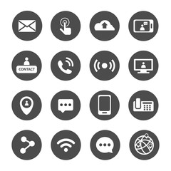 all of communication and technology icon set